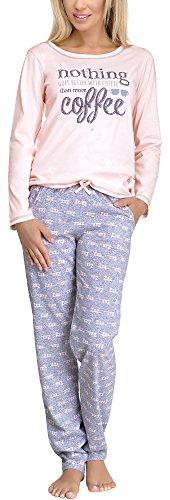 Merry Style Damen Schlafanzug 1003 (Ecru, S)
