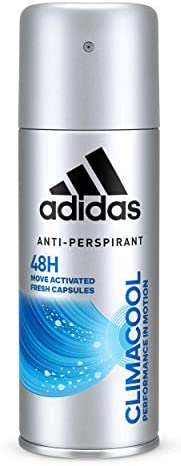Adidas Climacool Performance In Motion 48H Anti-Perspirant Spray for Men, 150 ml