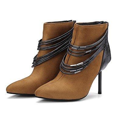Rtry Chaussures Femme Cuir Nubuck Matériaux Personnalisés Automne Hiver Gladiateur Confort Bootie Lutte Lumière Bottes Bottes Semelles Stiletto Talon La Tige Us5 / Eu35 / Uk3 / Cn34
