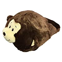Cozy Time Big Foot Slipper - Monkey Dark Brown