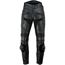 Texpeed Black Mens Leather Trousers With Sliders