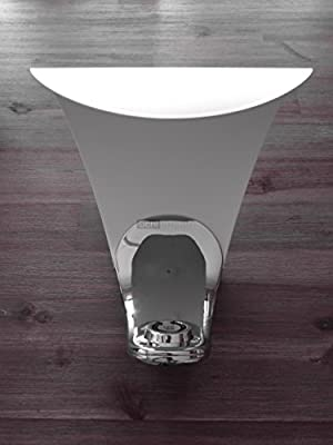 Luceplan - LED-Tischleuchte Curl - Weiß - Chrom, mit Dimmer von Luceplan - Lampenhans.de