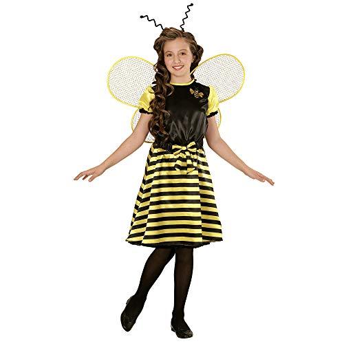 Widmann 03965 - Kinderkostüm Biene, Kleid, Unterrock, Gürtel mit Schleife, Flügel und Fühler (Flügel Und Antenne Biene)