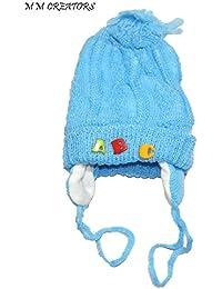 NPRC Stylish Woollen Tying Soft Feeling Winter Cap for Kids (0-18 Months)