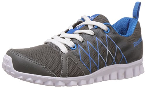 Reebok Boy's Pulse Run Lp Rivet Grey,Risk Blue and White Mesh Sneakers – 1.5 Uk 41Mfl 2BDOslL