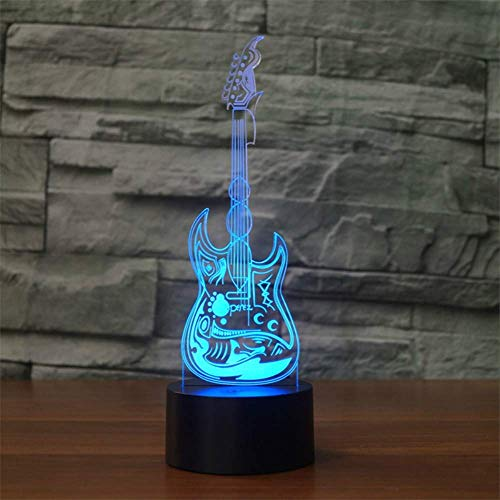 3D Nachtlicht 3D Licht E-Gitarre Effekt Bass Bass Modell Illusion 3D Lampe Led 7 Farbe Usb Touch Sensor Schreibtisch Licht Nightlight Musikliebhaber Geschenke