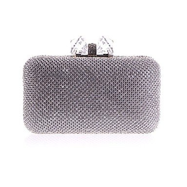 pwne L. In West Woman Fashion Diamanten Bowknot Abend Tasche Silver