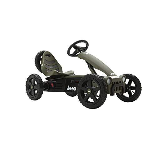 BERG Pedal-Gokart, Originales Jeep-Design, Für Kinder ab 4 bis 12 Jahre, Bis 50 kg, Jeep Adventure, Grün/Schwarz