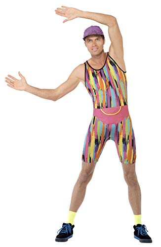 Mr. Energizer Men's Costume  Rewind to the 1990s when Derrick Evans (a.k.a. Mr. Motivator) got the nation off its feet through his energetic workouts on GMTV. Costume includes a colourful jumpsuit, hat and bumbag.