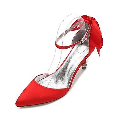 Rtry Chaussures De Mariage Pour Femmes Satin Comfort Spring Summer Wedding & Amp; Robe De Soirée Bowknot Strass Heelivory Plat Champagne Bleu Rubis Us9.5-10 / Eu41 / Uk7.5-8 / Cn42