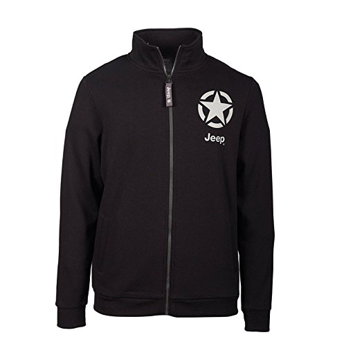 jeep-sweat-molletonne-a-capuche-zip-integral-star-small-homme-j6w-black-light-grey-s