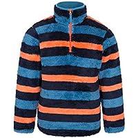 Mountain Warehouse Yeti Kinder Gestreifter Fleece Pullover Jacke Oberteil Winter warm outdoor