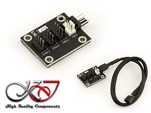 Kalea Informatique Splitter für Lüfter - 4-adrig - kompatibel mit CPU-Lüfter - Kabel 40 cm - zum Schrauben oder Kleben - Stromversorgung für 4 Lüfter