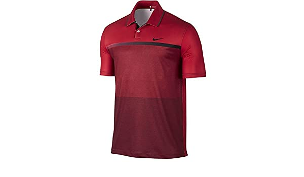 65e5c48179 Nike TW Mobility Print Men's Tiger Woods Golf Polo Shirt (Gym Red/Black,  Small): Amazon.co.uk: Sports & Outdoors