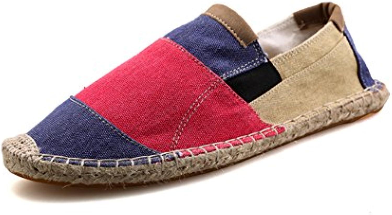 Rayas Alpargatas para Hombre Linen Espadrilles Multicolor Lona Zapatillas  -