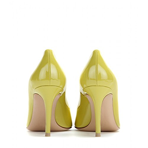 EDEFS - Escarpins Femme - Chaussures à Talons Hauts - Bout Pointu fermé - Classique Bureau Soiree Vert