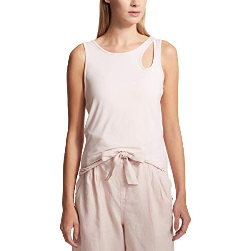DKNY $39 Womens New 1367 Pink Eyelet Jewel Neck Sleeveless Casual Top L B+B - Sleeveless Eyelet Top