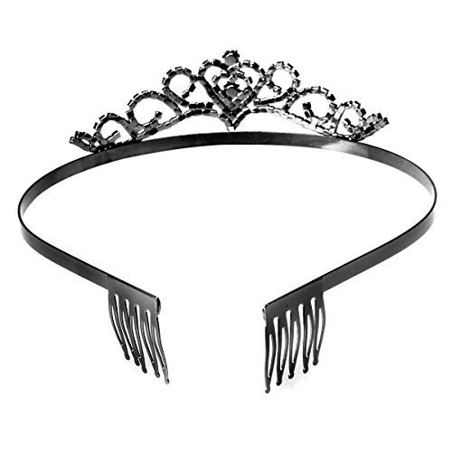 Tinksky Hochzeit Tiara Strass Crystal Bridal Stirnband Haar Accessories(Black)