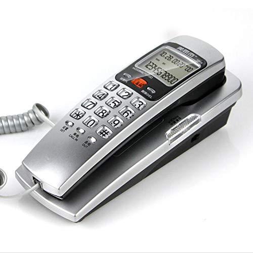 HHXD Haushalt An Der Wand Montiert Verdrahtet Fest Telefon,Hotel Anruferidentifikation Telefon,Stilvoll Mini Klein Telefonverlängerung Praktisch/Silber / 18 * 6 * 6 cm