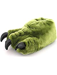 652f671a4a28 New Boys Childrens Green Novelty Monster Claw Slippers Gift Ideas - Khaki -  UK SIZES