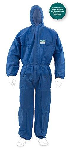Preisvergleich Produktbild ENVIRO DRESS SMS Raglan Einwegschutzanzug Kat III, Typ 5 + 6, blau in XXL | Einweganzug für Handwerker, Maler, Sanierer, Landwirte und mehr