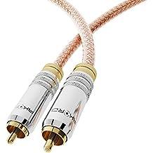 AKORD–cavo audio con connettore coassiale RCA SPDIF, color oro, per Audio surround/DTS/DOLBY, 0,5m