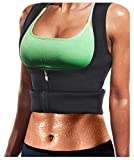 Gaine Amincissante Sport Femme Debardeur Sudation Neoprene Ventre Plat Waist Shaper Trainging (Black, XL)