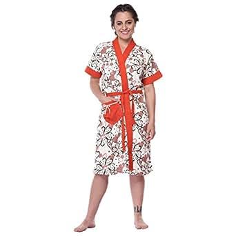 Gemini OFFWHITE Floral Printed Bath Robe