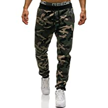 BOLF Hombre Pantalón Deportivo Entrenamiento Camuflaje Militar Motivo 6F6
