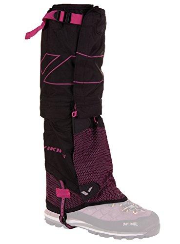 viking Gamaschen Damen hoch - wasserdicht und Atmungsaktiv - zweiteilig - Sehr robust - ideal für Outdoor und Trekking 5430, 46 schw/rosa, L/XL