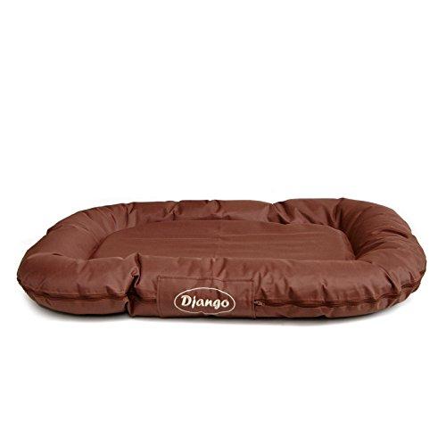 Luxus Hundekissen Django von LovePet | Hundebett, Komfortmatratze | Maße: 70 x 100 cm | Farbe: braun | teflonbeschichtet – kratzfest – atmungsaktiv | absolut pflegeleicht