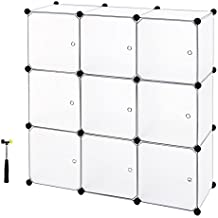 Songmics Armario de almacenaje de ropa Estantería por módulos (estructuras de cubo con puerta, blanco) LPC116W