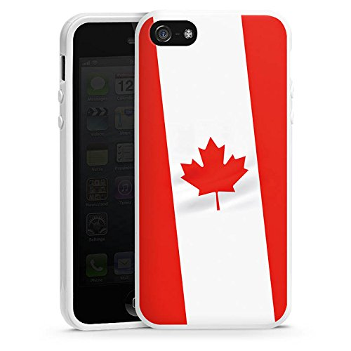 Apple iPhone 4 Housse Étui Silicone Coque Protection Canada Drapeau Canada Housse en silicone blanc