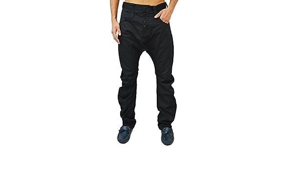 HUMÖR Designer Herren Jeans Santiago Tiefer Schritt Enges Bein Chino Hose 5  Farben - Tiefschwarz, Herren, 34 Waist 33 Leg (34)  Amazon.de  Bekleidung 681cf762fd