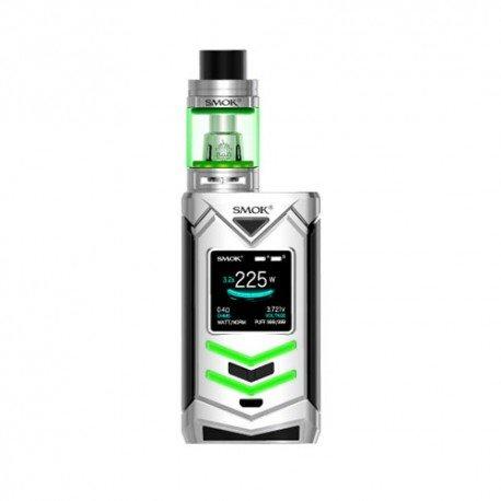 Authentische SMOK Veneno 225W TC Kit mit Smoktech TFV8 Big Baby Tank Zerstäuber Keine Nikotin No E Flüssigkeit (Silber und Schwarz)