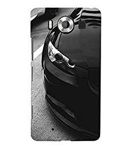FUSON Sports Car Side View 3D Hard Polycarbonate Designer Back Case Cover for Microsoft Lumia 950 :: Nokia Lumia 950