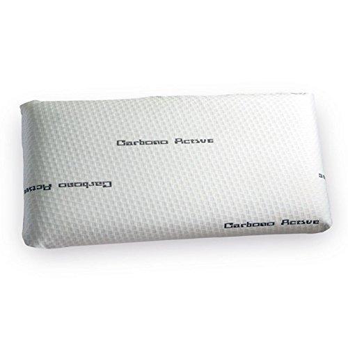 elalmacendelcolchon Almohada Viscoelástica Modelo Carbono Perforada, Máxima Adaptabilidad, Blanca - 135 cm - Otras Medidas Disponibles