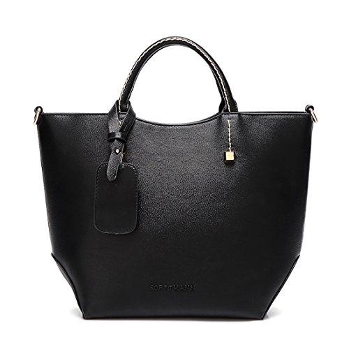 YYW Large Tote Bag, Borsa tote donna Black
