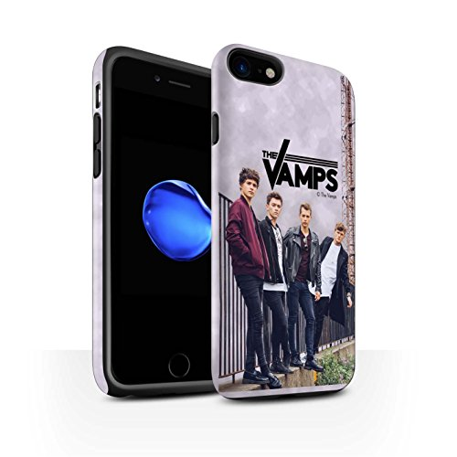 Offiziell The Vamps Hülle / Matte Harten Stoßfest Case für Apple iPhone 8 / Sammelalbum Muster / The Vamps Fotoshoot Kollektion Sammelalbum