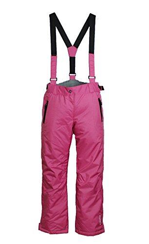 Damen Skihose mit Träger Snowboardhose Schneehose Ski Winterhose Rosa XXL