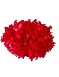Pompones de animadora (10 unidades), color rojo
