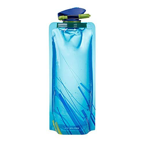 nipIN196#G 360 Grad drehbares Baby, das Trinkwasser-Schalen-Griff-Anti-Würgen-Flasche - Blau lernt - Flasche Baby-lernt