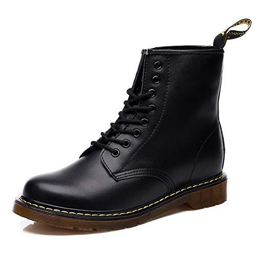 Minetom Unisex Chelsea Boots Damen Herren Kurzschaft Winter Stiefel Derby Wasserdicht Rutschfeste Warm Gefüttert Stiefeletten Worker Schuhe B Schwarz 43 EU