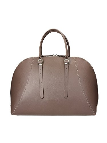 Borsa in pelle Donna Guess Luxe Mod.LADY LUXE DOME SATCHEL BAG HWLADY-L4438 Col. Taupe o Nero. Tortora