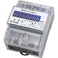 B+G E-Tech DRT428B digitaler Stromzähler Drehstromzähler für DIN Hutschiene, Energiemessgerät 400V 20(80) A mit S0 Schnittstelle
