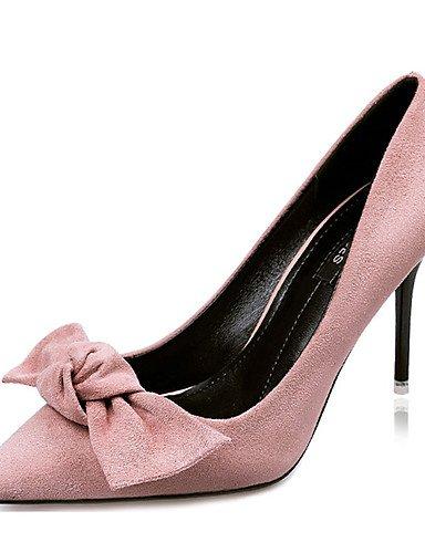 WSS 2016 Chaussures Femme-Décontracté-Noir / Vert / Gris / Bordeaux / Kaki-Gros Talon-Talons-Talons-Laine synthétique gray-us5 / eu35 / uk3 / cn34