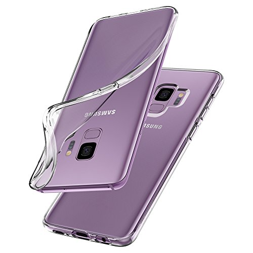 Transparent Handy (Spigen 592CS22826 Liquid Crystal Kompatibel mit Samsung Galaxy S9 Hülle, Transparent Silikon Handyhülle Durchsichtige Schutzhülle Case Crystal Clear)