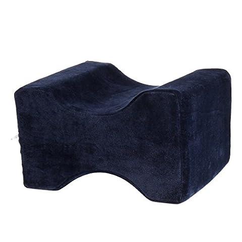Memory Foam Coussin de genou–kingwo Clip Leg coussin de coussin de pied de mousse à mémoire tapis en caoutchouc utiliser pieds et les jambes Sore Protéger les jambes, bleu, 10.2