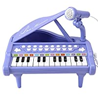 Amy&Benton Toddler Piano Toy Keyboard for Girls Birthday Gift 1 2 3 4 Years Old Girls, 24 Keys Electronic Educational Musical Instrument with Microphone