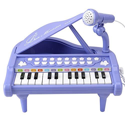 Amy & Benton Klavier Keyboard Spielzeug, 24 Tasten Kinder Musikspielzeug mit Mikrofon, Musik Instrumente Geschenk für Baby und Kleinkinder, Mädchen Spielzeug ab 1 2 3 Jahre